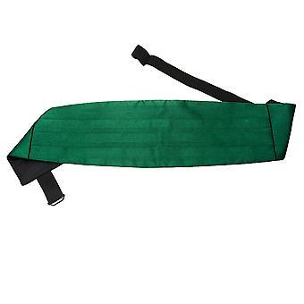 Emerald Green oformaterad Satin Maggördel