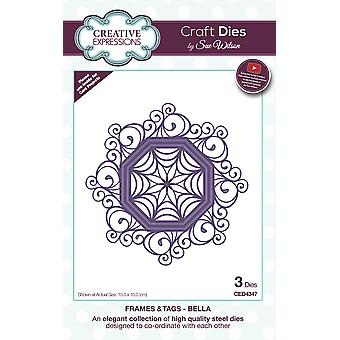 Creative Expressions Craft Dies By Sue Wilson-Frames & Tags-Bella