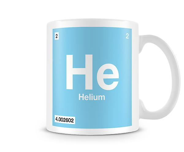 Element Symbol 002 He - Helium Printed Mug