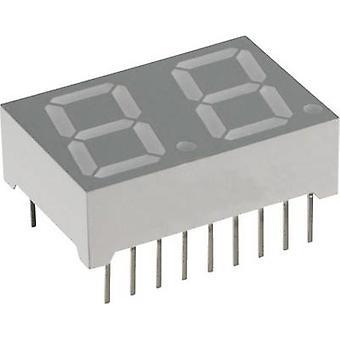 Lite-On Seven-segment display Blue 14.22 mm 3.8 V No. of digits: 2 LTD -5521 from