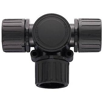 HellermannTyton 166-24802 HG21-T Helaguard T-Verbinder mit Inspektion Deckel Polyamid 6.6 schwarz