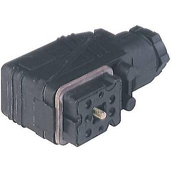 Hirschmann 932 484-100 GO 610 WF Contact Box With M16 Cable Gland And Screw Contacts Black Number of pins:6 + PE