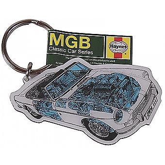 MGB Roadster Haynes corte troquelado llavero Metal