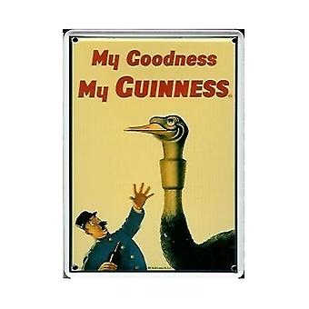 Guinness struisvogel Metal briefkaart / Mini Sign