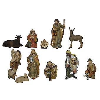 Krippenfiguren 11-tlg. Set Kunstharz Krippe Figuren JOEL 11 cm