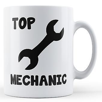 Écriture décorative supérieur mécanicien - Mug imprimé