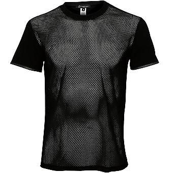 Versace Net Crew-Neck T-Shirt, Black