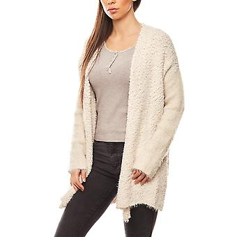 Travel Couture of cozy women's sweater coat white