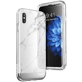 iPhone Xs Max Case, [Unicorn Beetle Stella Series] Premium Glitter Case with Built-in Screen 2018 Release (Marble)