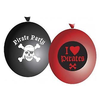 ballonnen 6 stuks piraten zak/5
