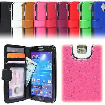 Wallet pouch Samsung Galaxy S4/S4 + lycheeläder ID/photo Pocket