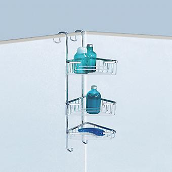 Gedy Triple Corner Hanging Shower Basket Chrome 5686 13
