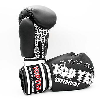 Top-Ten Superkampf Boxhandschuhe schwarz