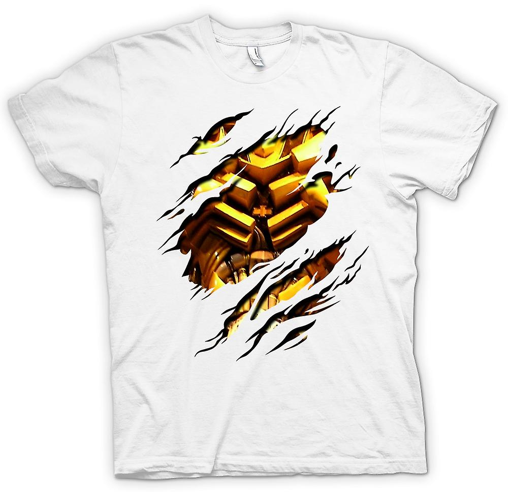 Heren T-shirt - Bumble bee Ripped Design - transformatoren geïnspireerd