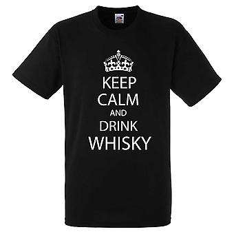 Black Keep Calm and Drink Whisky Tshirt