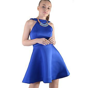 Lovemystyle Royal Blue Short Scuba Skater Dress