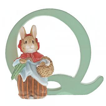 Beatrix Potter Alphabet Letter Q Mrs. Rabbit Figurine