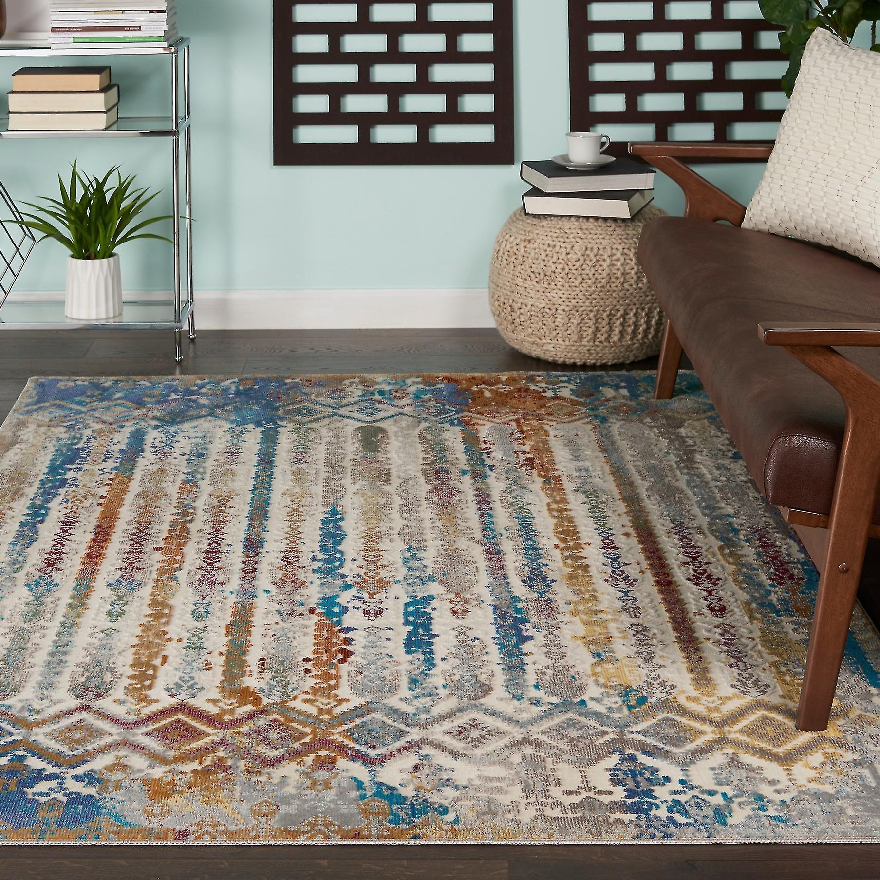 Radiant Nourison RAD02 Rectangle multiCouleure tapis tapis Funky
