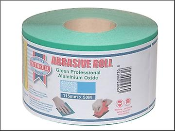 Faithfull Aluminium Oxide Paper Roll Green 115 mm x 50m 40g