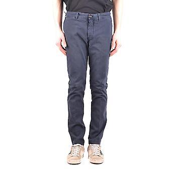 Moncler Blue Cotton Jeans