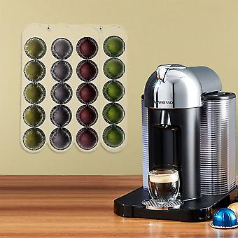 OnDisplay Wall Mounted Acrylic Nespresso Vertuoline® Coffee Capsule/Pod Holder - Clear