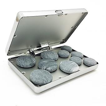 Royal Massage Chrome Case Hot Stone Heater w/10 Hot Rocks