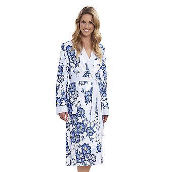 Rosch 1193140 11573 女性の新しいロマンスの藍色の花青い花綿ローブ