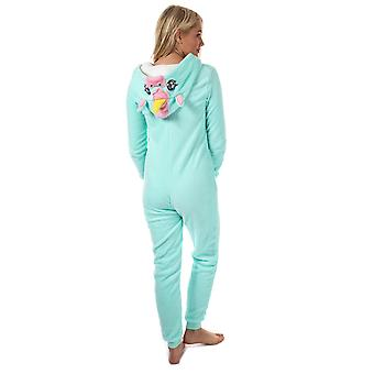 Womens modig sjel Unicorn Onesie Mint blått