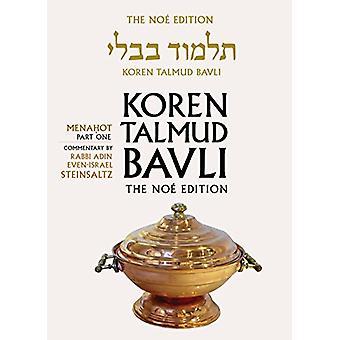 Koren Talmud Bavli - Menahot Part 1 - English - - v. 25 by Koren Talmud
