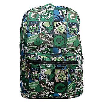 Green Lantern Comic Strip Backpack