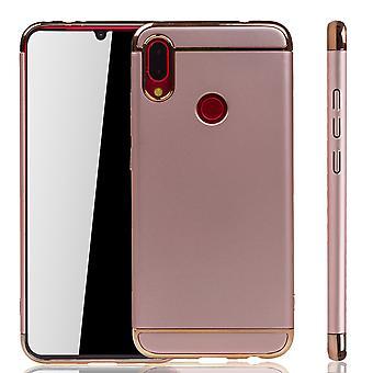 Huawei P smart 2019 Handy Hülle Schutz Case Bumper Hard Cover Pink