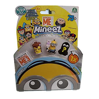 Despicable Me Mineez 3 Pack Series 1 (one Supplied At Random) #3pack