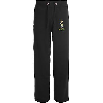 Royal Signals - Licensed British Army Embroidered Open Hem Sweatpants / Jogging Bottoms