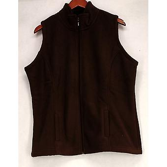 Sport Savvy Fleece Zip Front w/ Pockets Brown Vest A209485