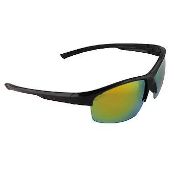 Sonnenbrille Sport Rechteck polarisierendes Glas schwarz gelb mehrfarbig FREE BrillenkokerS330_2