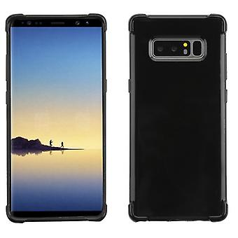 MYBAT Glossy Jet Black Candy Skin Cover for Galaxy Note 8