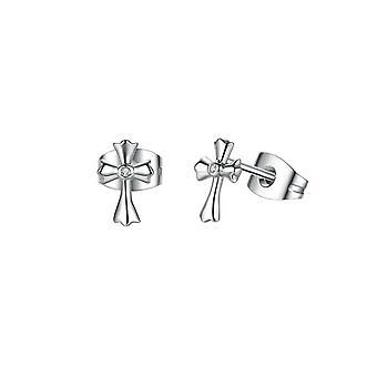 Boucles d'oreilles Femme Croix en Argent 925