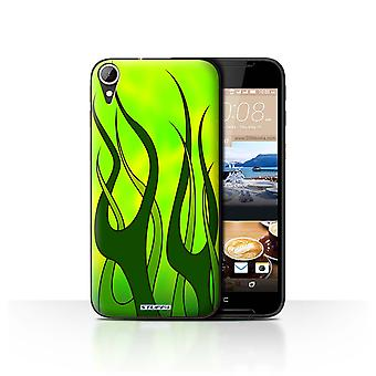 STUFF4 Case/Cover voor HTC Desire 830/Green/Lime/vlam verf baan
