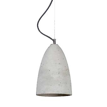 Concrete light pendant Juna M light grey Ø 19, 5 cm h: 31 cm