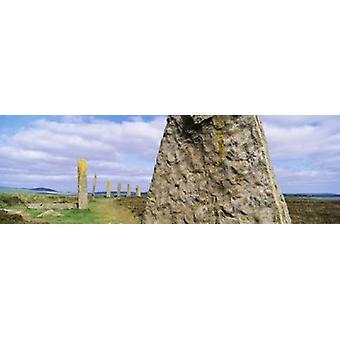 Ring av Brodgar Orknøyene Skottland Storbritannia plakatutskrift