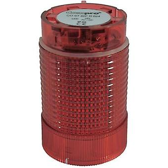 Signal tower component LED ComPro CO ST 40 Red Non-stop light signal, Flash, Emergency light 24 Vdc, 24 Vac 75 dB