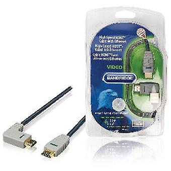 Bandridge High Speed HDMI-kabel met Ethernet HDMI-connector blue