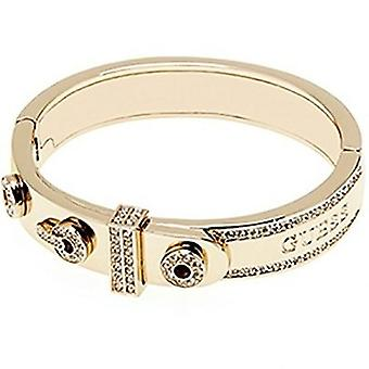 Guess dames armband Bangle armband roestvrij staal goud Zyrkonia UBB21794