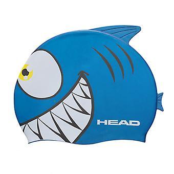 Huvudet Meteor karaktär silikon badmössa - blåhaj