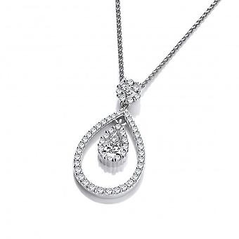 Cavendish French Silver and CZ Lantern Pendant