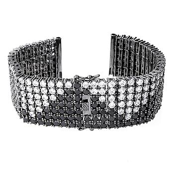 Iced out BLING watches bracelet - 6 ROW ZIG ZAG