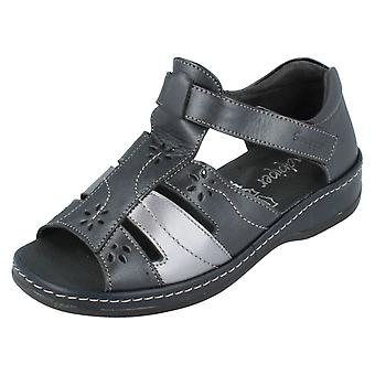Ladies Sandpiper Velcro Fastening T-Bar Sandals Carly