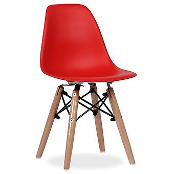 Superstudio Baby-Red Wooden Chair DSW International Charles & Ray Eames