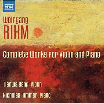 W. Rihm - Rihm: Complete Works for Violin & Piano [CD] USA import