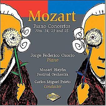 W.a. Mozart - Mozart: Piano Concertos nr. 14, 23 og 25 [CD] USA importerer